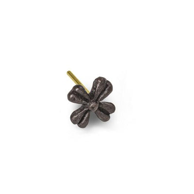 Oxidized Tiny Flower Stud Earring-Brevard