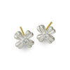 Tiny Flower Stud Earring with Stone-Brevard