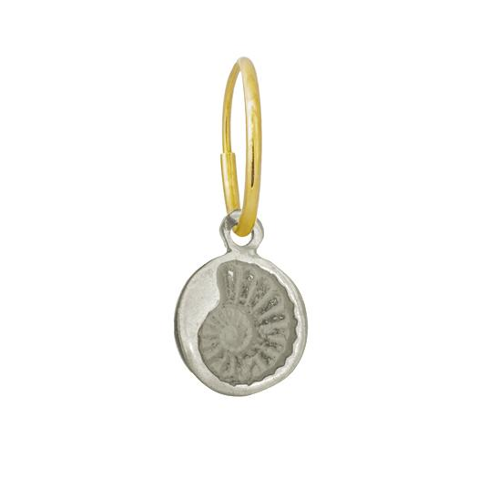 Tiny Fossil • Endless Hoop Charm Earring-Brevard