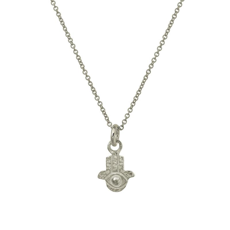 Tiny Hamsa Charm Necklace-Brevard