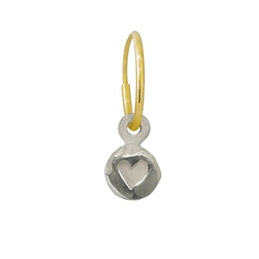 Tiny Heart • Endless Hoop Charm Earring-Brevard