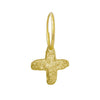 Gold Tiny Jachin Cross • Endless Hoop Charm Earring-Brevard