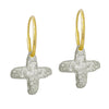 Tiny Jachin Cross • Endless Hoop Charm Earring-Brevard
