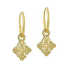 Gold Tiny Justine • Endless Hoop Charm Earring-Brevard
