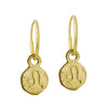 Gold Tiny Leo • Endless Hoop Charm Earring-Brevard