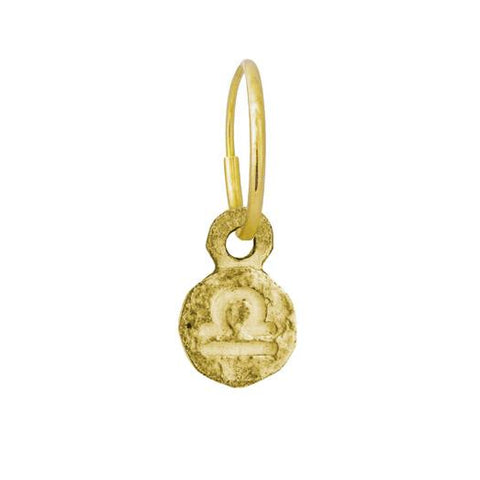Gold Tiny Libra Earring-Brevard
