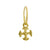 Gold Tiny Lotus Cross • Endless Hoop Charm Earring-Brevard