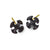 Oxidized Tiny Lotus Cross Stud Earring-Brevard