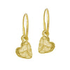 Gold Tiny Lotus Heart • Endless Hoop Charm Earring-Brevard