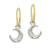 Tiny Lotus Moon • Endless Hoop Charm Earring-Brevard