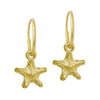 Gold Tiny Lotus Star • Endless Hoop Charm Earring-Brevard