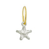 Tiny Lotus Star • Endless Hoop Charm Earring-Brevard