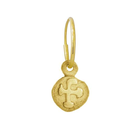 Gold Tiny Marina Cross Earring-Brevard