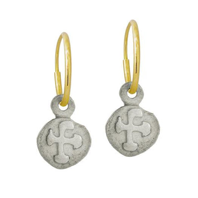 Tiny Marina Cross • Endless Hoop Charm Earring-Brevard