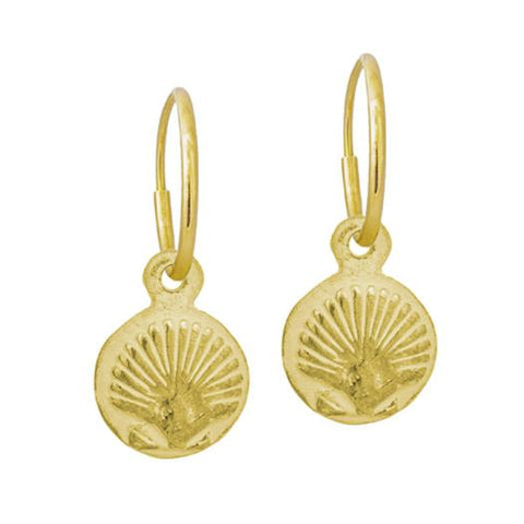 Gold Tiny Marina Shell Earring-Brevard