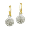 Tiny Marina Shell • Endless Hoop Charm Earring-Brevard