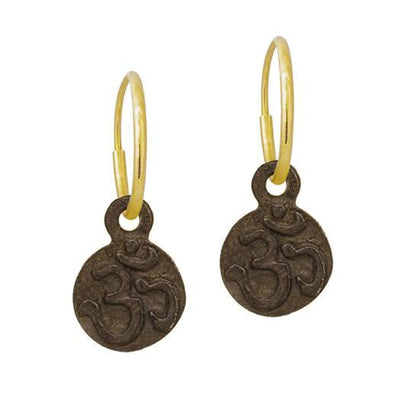 Oxidized Tiny Ohm • Endless Hoop Charm Earring-Brevard