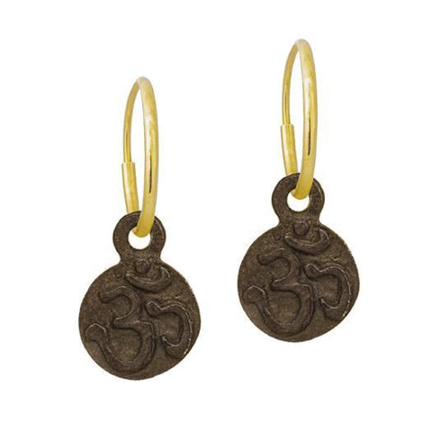 Oxidized Tiny Ohm Earring-Brevard