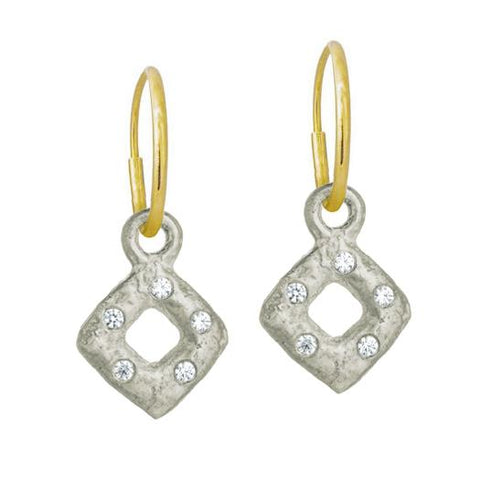 Tiny Diamond Old Money Earring with Stone-Brevard