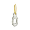Tiny Oval Old Money • Endless Hoop Charm Earring-Brevard