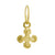 Gold Tiny Palm Cross • Endless Hoop Charm Earring-Brevard