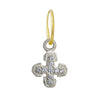 Tiny Pavé Palm Cross • Endless Hoop Charm Earring-Brevard