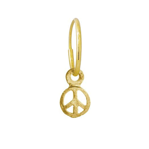 Gold Tiny Peace Earring-Brevard