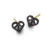 Oxidized Tiny Peace Love Stud Earring-Brevard