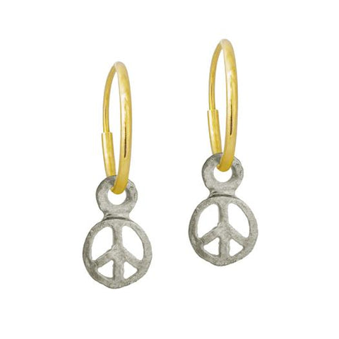 Tiny Peace Earring-Brevard
