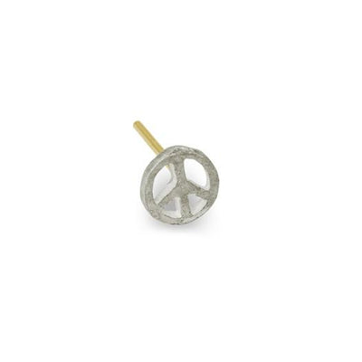 Tiny Peace Stud Earring-Brevard