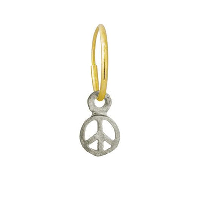 Tiny Peace • Endless Hoop Charm Earring-Brevard