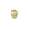 Gold Tiny Pirate Stud Earring with Stones-Brevard