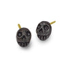 Oxidized Tiny Pirate Stud Earring-Brevard