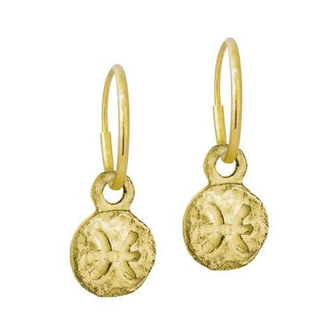 Gold Tiny Pisces Earring-Brevard