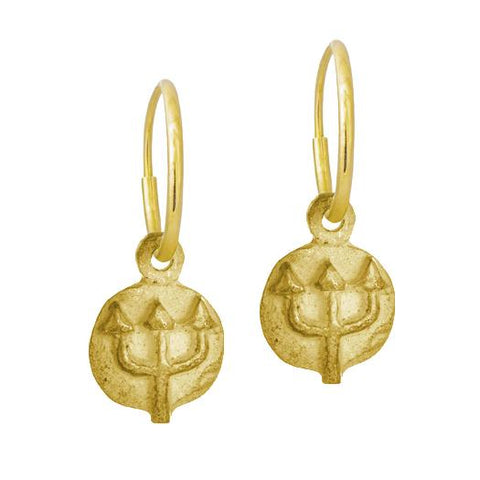 Gold Tiny Poseidon Earring-Brevard