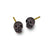 Oxidized Tiny Rodger Stud Earring-Brevard