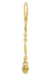 Gold Linked Tiny Rodger • Endless Hoop Charm Earring-Brevard