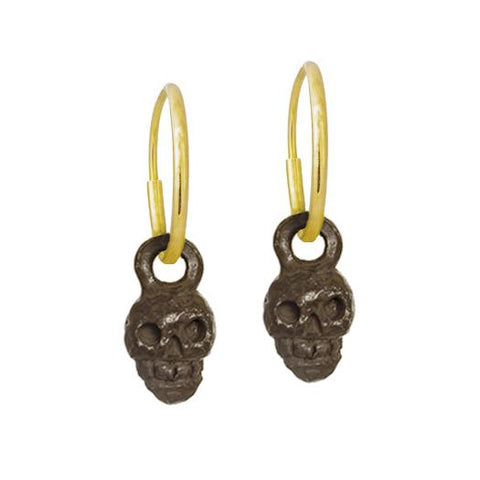 Oxidized Tiny Rodger Earring-Brevard