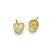 Gold Tiny Rodger + Bandit Heart • Mismatch Stud Earring Pair-Brevard