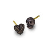 Oxidized Tiny Rodger + Bandit Heart • Mismatch Stud Earring Pair-Brevard