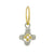 Pearl Two-Tone Tiny Signature Cross • Endless Hoop Charm Earring-Brevard