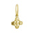 Gold Tiny Signature Cross Earring-Brevard
