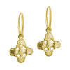 Gold Tiny Signature Cross • Endless Hoop Charm Earring-Brevard