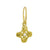 Gold Tiny Signature Cross with Pearl • Endless Hoop Charm Earring-Brevard