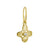 Gold Tiny Signature Cross with Stone • Endless Hoop Charm Earring-Brevard