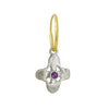 Tiny Signature Cross Earring with Amethyst-Brevard