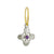 Amethst Tiny Signature Cross • Endless Hoop Charm Earring-Brevard