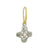 Pearl Tiny Signature Cross • Endless Hoop Charm Earring-Brevard