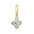 Tiny Signature Cross with Stone • Endless Hoop Charm Earring-Brevard
