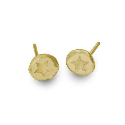 Gold Tiny Star Stud Earring-Brevard